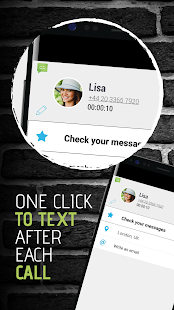 SMS from Android 4.4 with Caller ID- screenshot thumbnail