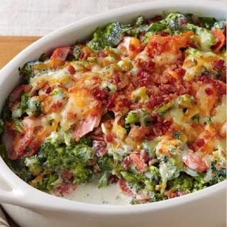 Creamy Broccoli Bacon Bake