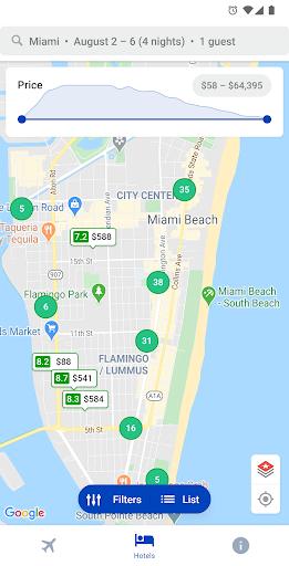 Capturas de pantalla de hoteles y vuelos 3
