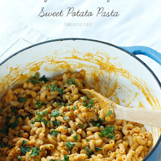 Creamy Butternut Squash and Sweet Potato Pasta.