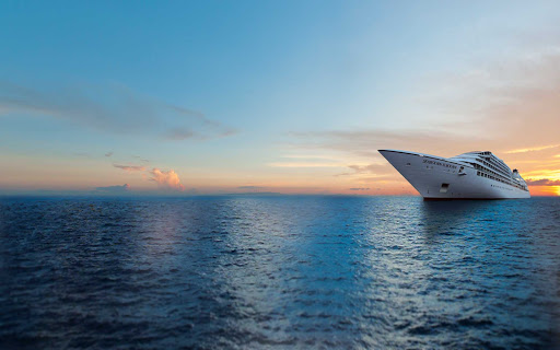 Seabourn-Sojourn-at-sunset - Book a cruise on the luxury cruise ship Seabourn Sojourn for an unforgettable voyage.