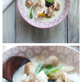 Tom Kha Gai Recipe (Thai Coconut Chicken Soup).