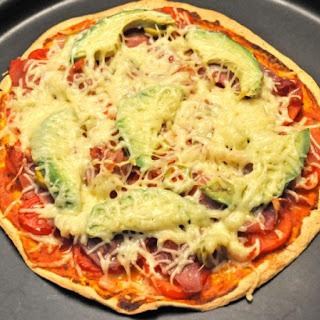 Tomato and Avocado Pizza