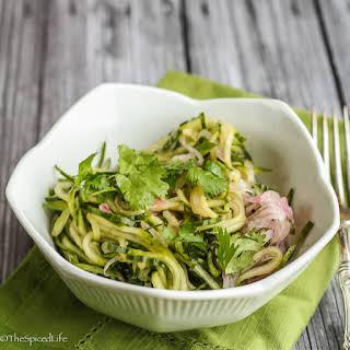 Spiralized Thai Cucumber Salad.