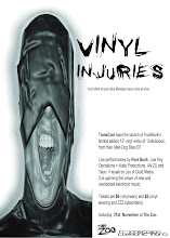 Photo: Flyer for Vinyl Injuries event. Design by Michael Nolan.