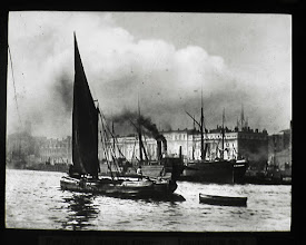 Photo: Thames Sailing Barge near the Customs House, London circa. 1901