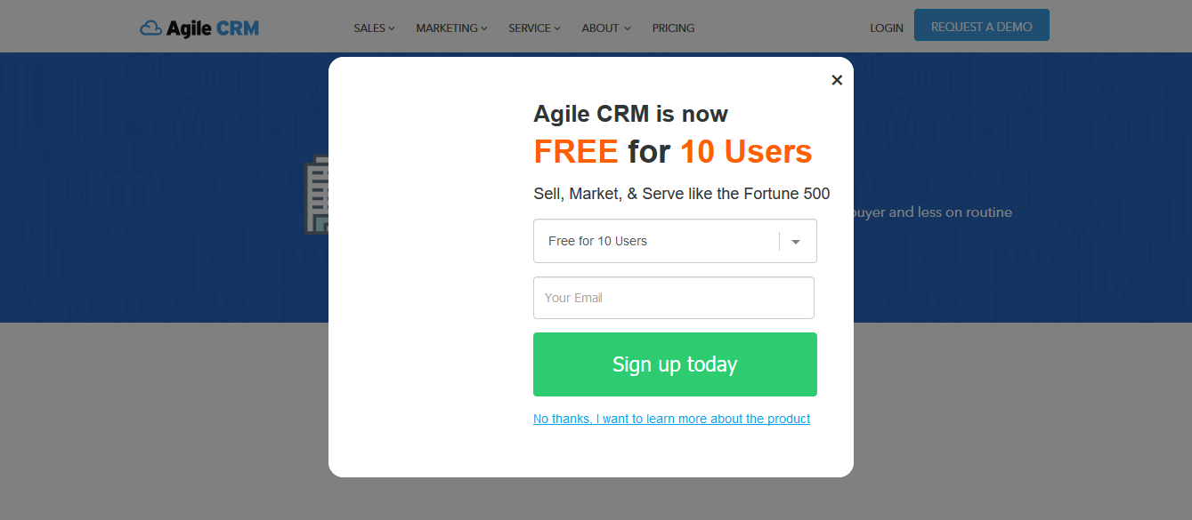 Agile CRM for real estate for free