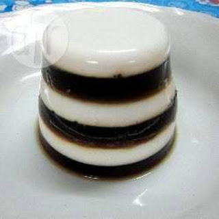 Layered Coffee And Coconut Jellies.