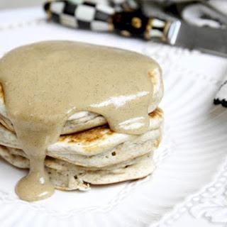 Skinny Vanilla Bean Pancakes with Warm Vanilla Glaze