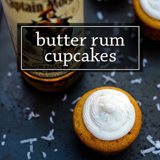 Butter Rum Cupcakes.