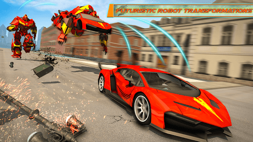 Flying Dragon Robot Car - Robot Transforming Games 2.5 screenshots 6