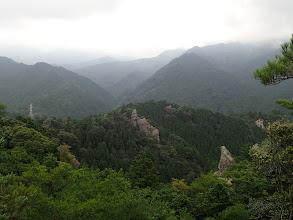 北方面に岩稜帯