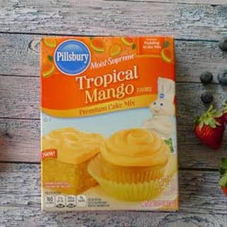 Triple Berry Mango Upside Cake.