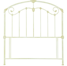 Metal Floor Standing Ornate Headboard