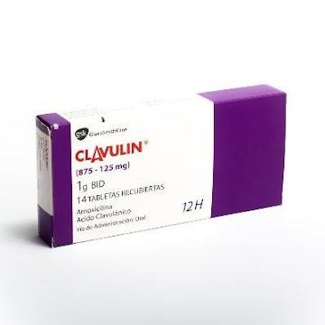 CLAVULIN 1G TAB. CAJA   X14TAB. GSK AMOXICILINA ÁCIDO CLAVULÁNICO-.