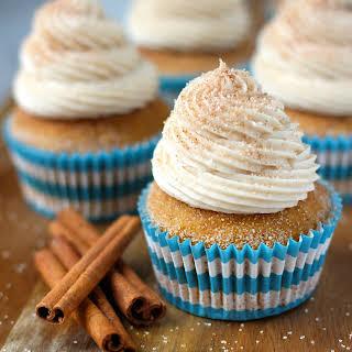 Pumpkin Snickerdoodle Cupcakes.
