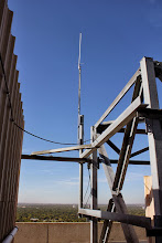 Photo: Showing the cable run from the building to the antenna structure