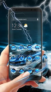 Blue Lightning Cool Car theme & wallpapers - náhled