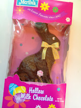 Photo: Here's the chocolate bunny BEFORE