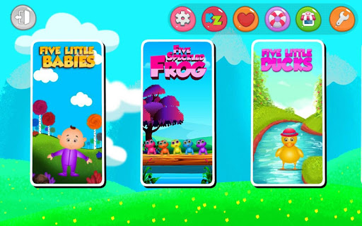Kids Top Nursery Rhymes Videos - Offline Learning FiveLittle_v6.1 screenshots 5
