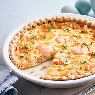 Southern Squash and Shrimp Quiche.