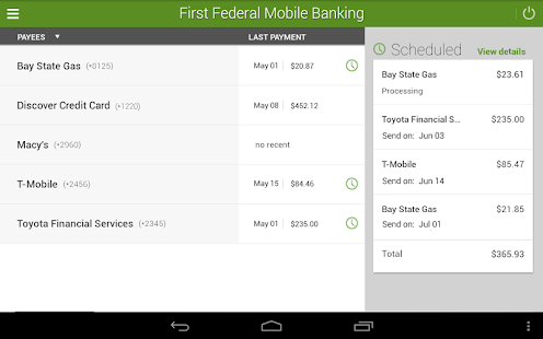 First Federal Mobile Banking- screenshot thumbnail