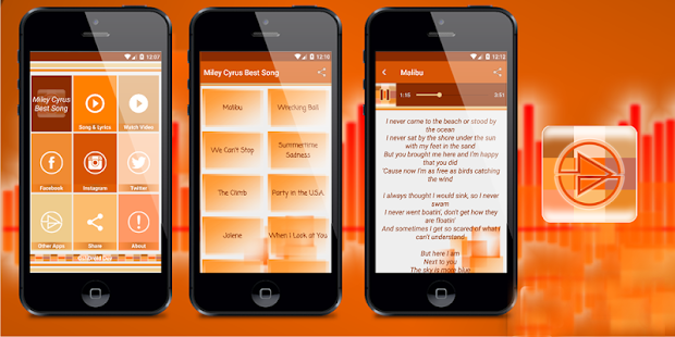 Miley Cyrus Malibu Song Lyrics - Android Apps on Google Play
