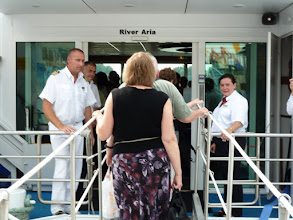Photo: Our captain greeted everyone as we boarded ship.