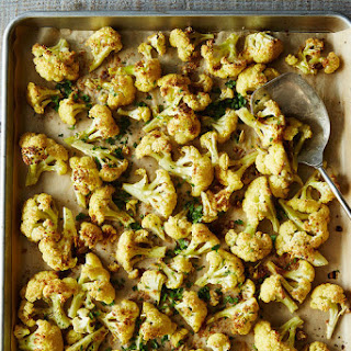 Roasted Cauliflower with Cumin and Cilantro.