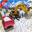 Heavy Snow Excavator Sim 2019- Real Excavation 3D icon
