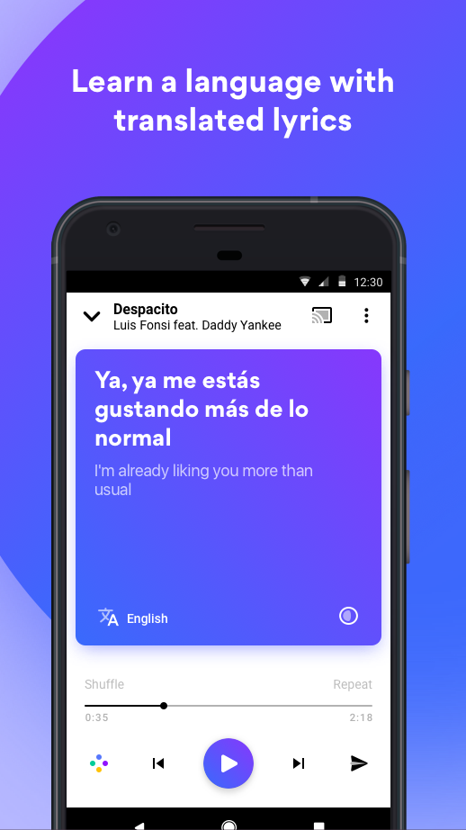 Musixmatch - Lyrics for your music Screenshot 1