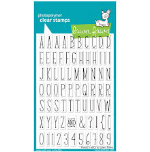 Lawn Fawn Clear Stamps 4X6 - Violets ABCs