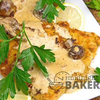 Pork Cutlets with Chardonnay Herb Cream Sauce.
