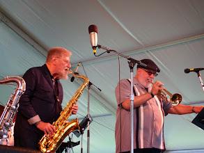 Photo: Lew Tabakin sax, Randy Brecker tr, withGeorge Wein All-Stars