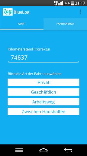 BlueLog - Fahrtenbuch