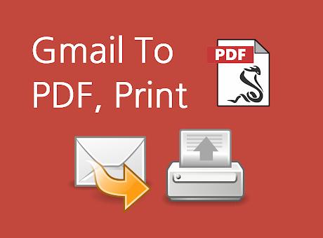 Mail to PDF, Print