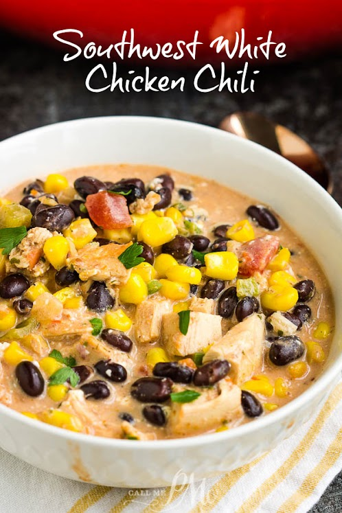 Southwest Creamy White Chicken Chili