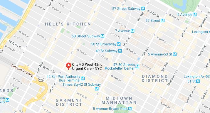 Ubicación Centro Médico NYC