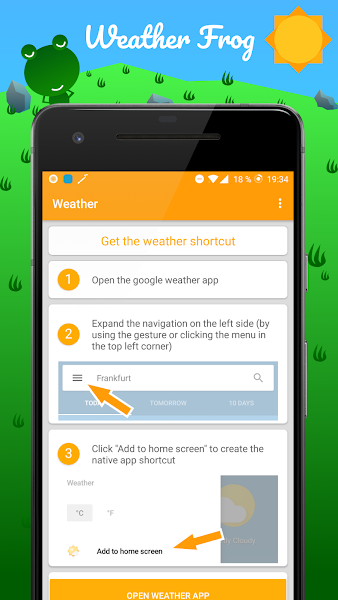 Weather Frog Shortcut