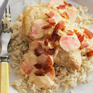 Smothered Chicken with Brown Rice