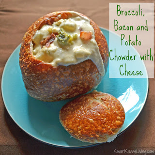 Broccoli, Bacon and Potato Chowder with Cheese