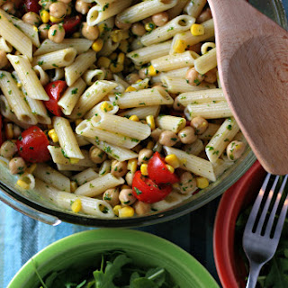 Corn And Tomato Pasta Salad With Cilantro Vinaigrette