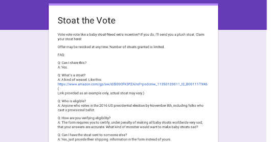 Stoat the Vote