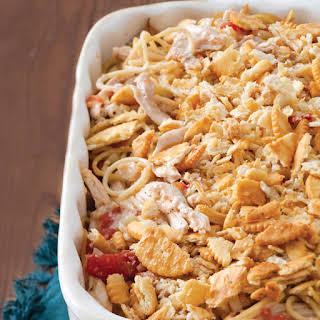 Chicken-Spaghetti Casserole.