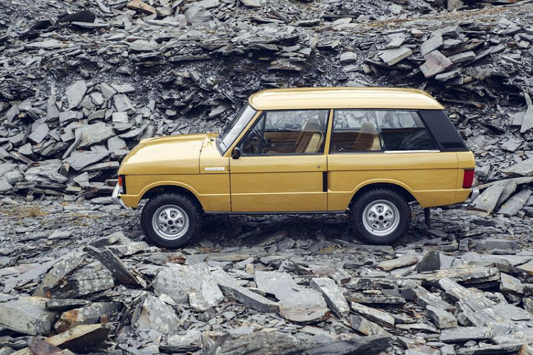 The original Range Rovers of the era came in six color options: Bahama Gold (shown here), Arctic White, Lincoln Green, Masai Red, Sahara Dust, and Tuscan Blue. Picture: JAGUAR LAND ROVER