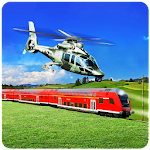 Train Vs Helicopter Racing 3D 2018 Icon