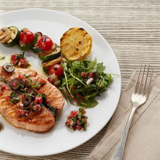 Grilled Salmon with Sauce Vierge