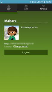 Mahara Mobile - náhled