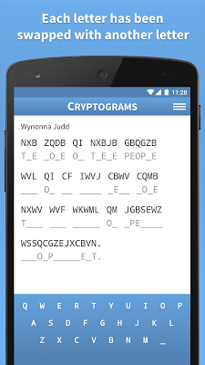 Cryptograms · Cryptoquote Game - screenshot