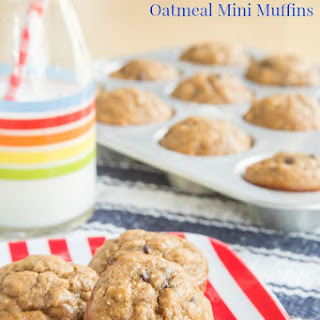 Funky Monkey Oatmeal Mini Muffins